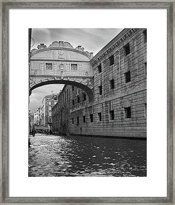 Framed Print featuring the photograph The Bridge Of Sighs, Venice, Italy by Richard Goodrich