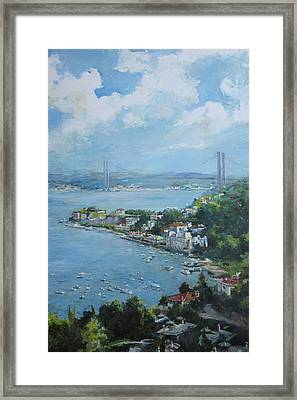 The Bridge Over Bosphorus Framed Print