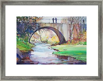 The Bridge Over Brewster Garden Framed Print