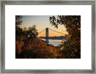 The Bridge Through The Trees Framed Print by Kristopher Schoenleber