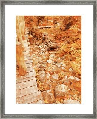The Bridge Troll By Sarah Kirk Framed Print
