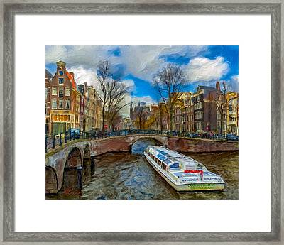 Framed Print featuring the photograph The Bridges Of Amsterdam by Juan Carlos Ferro Duque