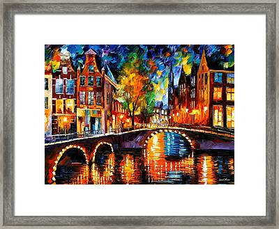 The Bridges Of Amsterdam Framed Print