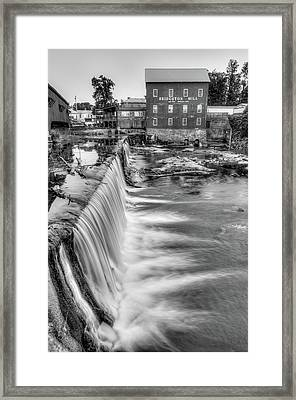 The Bridgeton Mill In Indiana - Est. 1823 - Black And White Framed Print by Gregory Ballos