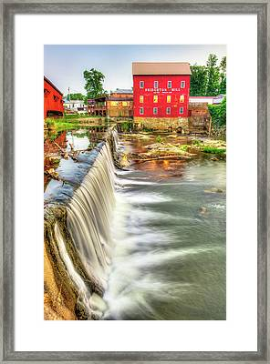 The Bridgeton Mill In Indiana - Est. 1823 Framed Print by Gregory Ballos