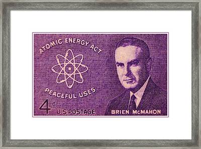 The Brien Mcmahon Stamp Framed Print by Lanjee Chee
