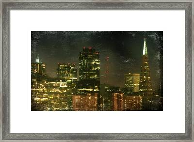 The Bright City Lights Framed Print by Laurie Search
