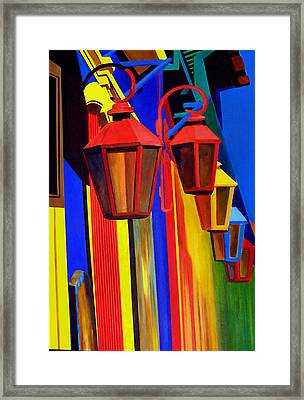 The Bright Lamps Of La Boca Framed Print by JoeRay Kelley