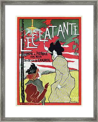 The Brilliant 1895 French Art Nouveau Ad Framed Print by Aapshop