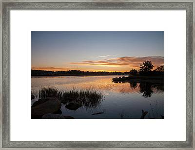 Framed Print featuring the photograph The Brink - Pawcatuck River Sunrise by Kirkodd Photography Of New England