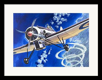 High Altitude Flying Paintings Framed Prints