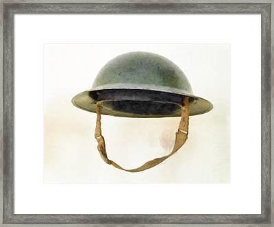 The British Brodie Helmet  Framed Print by Steve Taylor