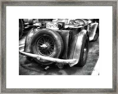 The British Mg  Framed Print by Steven Digman