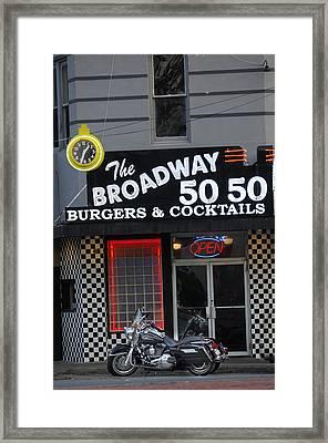The Broadway 50 50 Framed Print