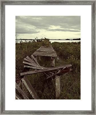 The Broken Dock Framed Print