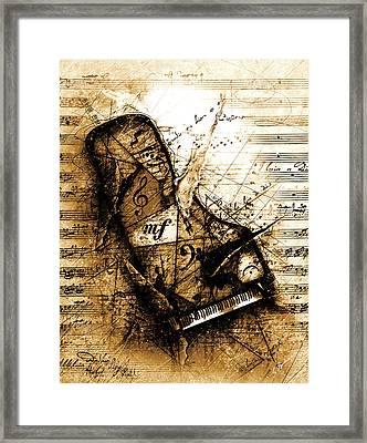 The Broken Harp Framed Print by Gary Bodnar