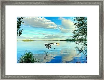 The Broken Pier Framed Print by Kim Shatwell-Irishphotographer
