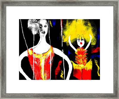 Framed Print featuring the digital art The Broken Puppet by Rc Rcd