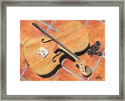 The Broken Violin Framed Print by Ken Powers