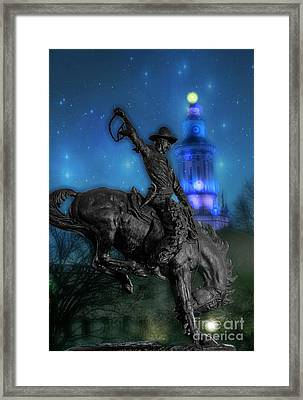 The Bronco Buster  Framed Print by Juli Scalzi