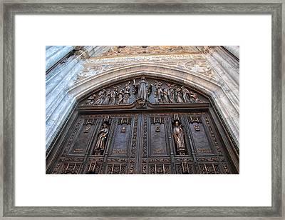 The Bronze Doors Of St. Patrick's Framed Print