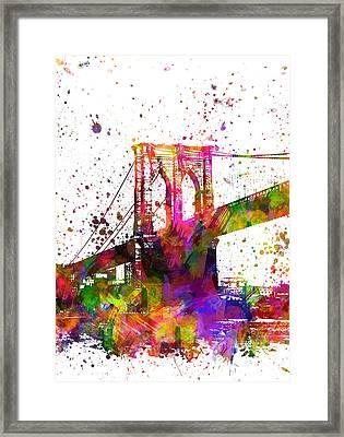 The Brooklyn Bridge 04 Framed Print by Aged Pixel