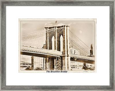 The Brooklyn Bridge Framed Print by Laura DAddona