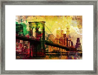 The Brooklyn Bridge Framed Print