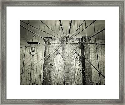 The Brooklyn Bridge Framed Print