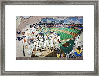 The Brooklyn Dodgers In Ebbets Field Framed Print