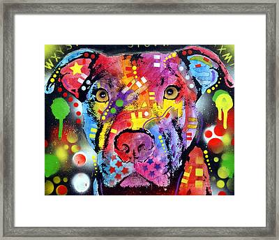 The Brooklyn Pitbull 1 Framed Print by Dean Russo