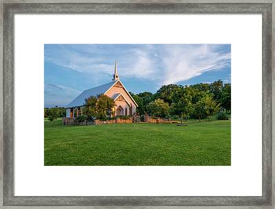 The Brooks At Weatherford Wedding Chapel Framed Print