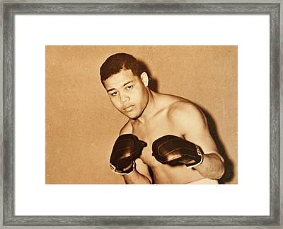 The Brown Bomber Framed Print by Pg Reproductions