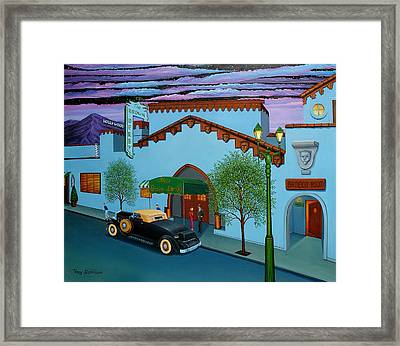 The Brown Derby Framed Print by Tracy Dennison