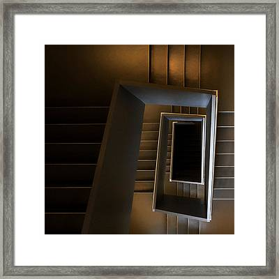 The Brown Sugar Staircase Framed Print by Gerard Jonkman