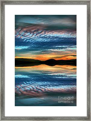 The Brush Strokes Of Evening Framed Print by Tara Turner
