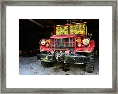 The Brush Truck Framed Print by JC Findley