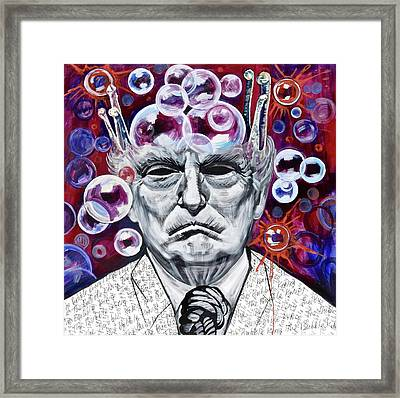 The Bubble King Framed Print