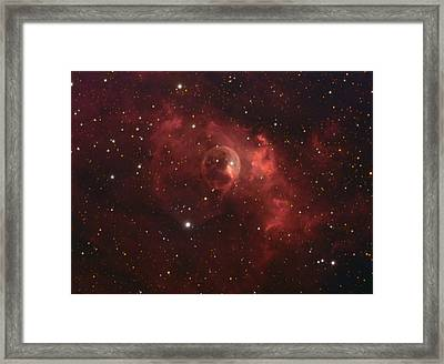 Framed Print featuring the photograph The Bubble Nebula by Charles Warren