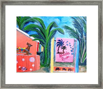 The Bubble Room Captiva Island Florida Framed Print by Annie St Martin