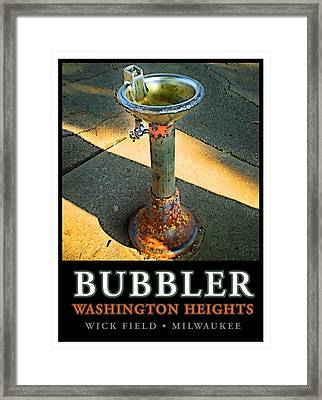 The Bubbler Framed Print by Geoff Strehlow