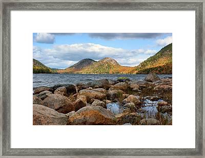 The Bubbles - 1 - Jordan Pond - Acadia National Park Framed Print