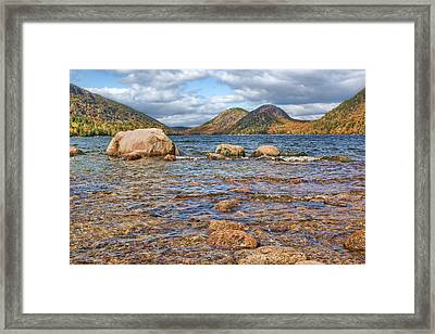 The Bubbles - 2 - Jordan Pond - Acadia National Park Framed Print