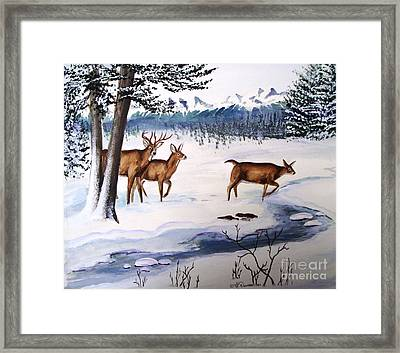Framed Print featuring the painting The Buck Stops Here by Patricia L Davidson
