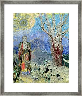 The Buddha Framed Print by Odilon Redon