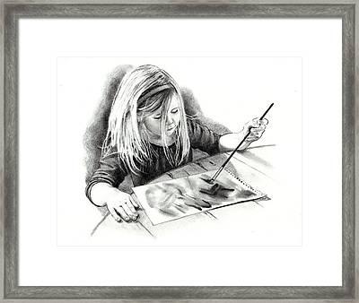 The Budding Artist Framed Print by Joyce Geleynse