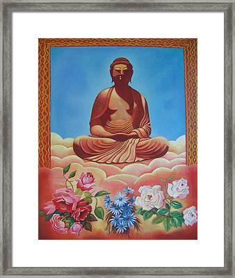 The Budha Framed Print by Hiske Tas Bain