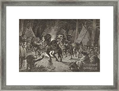 The Buffalo Dance Framed Print