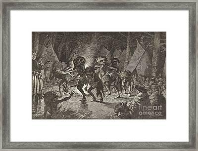 The Buffalo Dance Framed Print