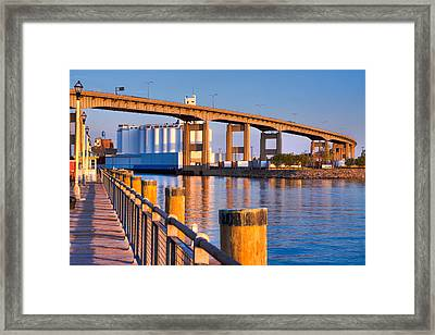 Framed Print featuring the photograph The Buffalo Skyway by Don Nieman
